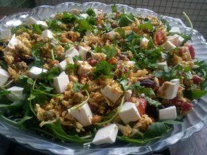 salada abobora beterraba assadas e tremoço em portugues
